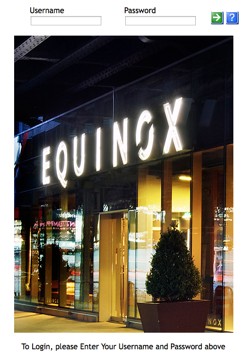 Equinox Welcome Page